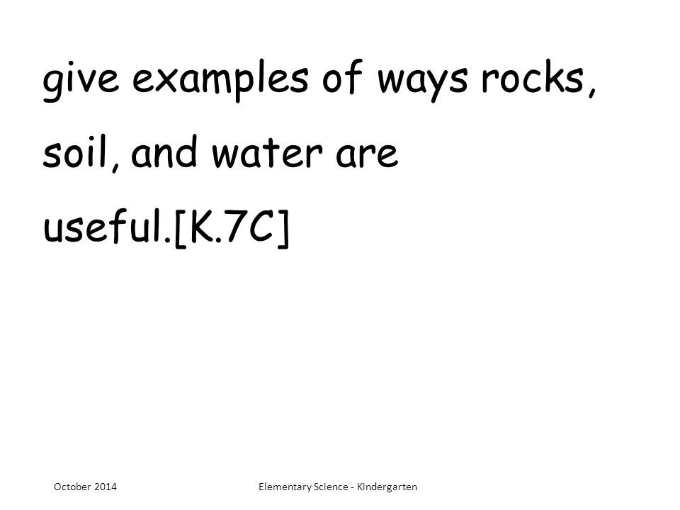 Elementary science kindergarten ppt video online download for Give the scientific word for soil